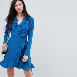 ASOS Tall Ruffled Wrap Mini Dress